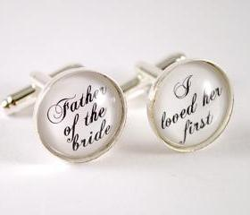 Wedding Father of the Bride Cufflinks